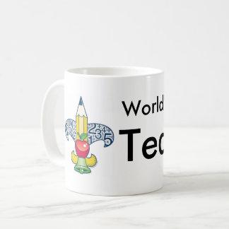 Professeur du monde de Fleur-De-Enseignement le Mug