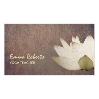 Professeur élégant vintage de yoga de Lotus Carte De Visite Standard