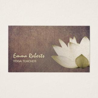 Professeur élégant vintage de yoga de Lotus Cartes De Visite