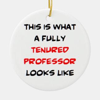 professeur entièrement titulaire ornement rond en céramique