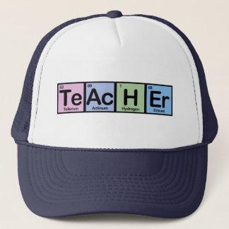 Professeur fait d'éléments casquette