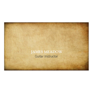 Professeur grunge foncé de guitare de musicien de carte de visite standard