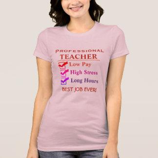 Professeur - le meilleur travail jamais ! t-shirt