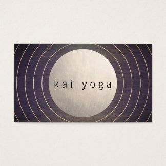 Professeur moderne frais de yoga et de méditation cartes de visite