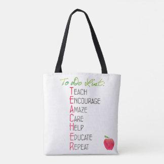 Professeur pour faire la typographie d'aquarelle sac
