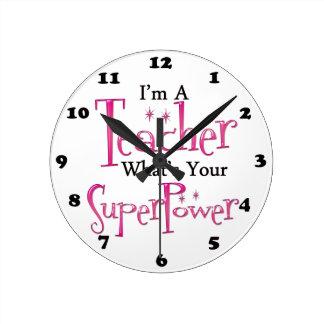 Professeur superbe horloge ronde