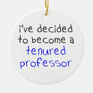 professeur titulaire ornement rond en céramique