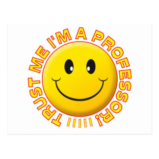 Professeur Trust Me Smile Carte Postale