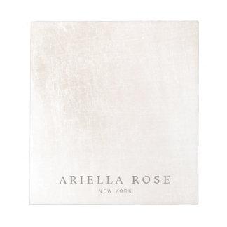 Professiona de marbre blanc balayé élégant simple bloc-note