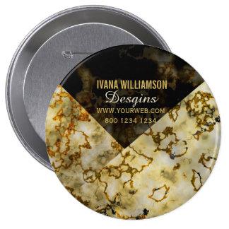 Professionnel criqué Marbleized de veinage d'or Pin's
