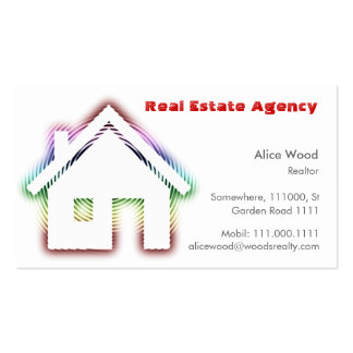 Professionnel de la maison | d'immobiliers carte de visite standard