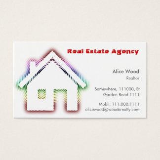 Professionnel de la maison | d'immobiliers cartes de visite