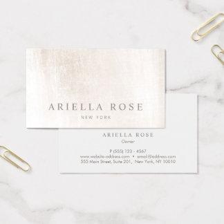 Professionnel de marbre blanc balayé élégant cartes de visite