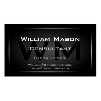 Professionnel de monogramme encadré par noir chic carte de visite standard