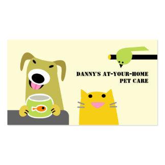 Professionnel de soin des animaux familiers carte de visite standard