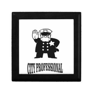 professionnel de ville petite boîte à bijoux carrée
