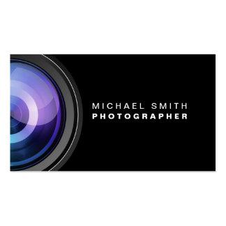 Professionnel d'objectif de caméra de photographie modèles de cartes de visite