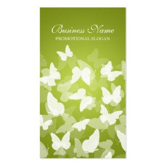 Professionnel élégant de vert de chaux de papillon modèles de cartes de visite