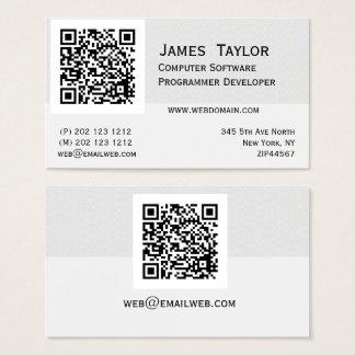 Professionnel élégant formel de l'informaticien | cartes de visite