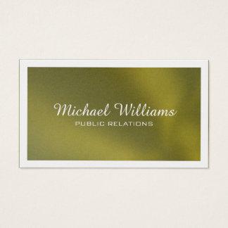 Professionnel élégant miroirs doré cartes de visite
