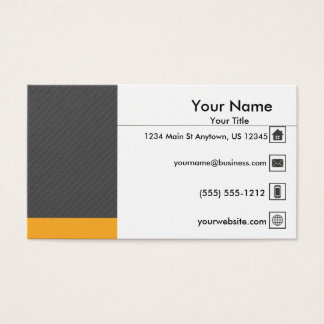 Professionnel jaune gris moderne cartes de visite