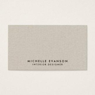 Professionnel Luxe élégant de toile beige de Faux Cartes De Visite