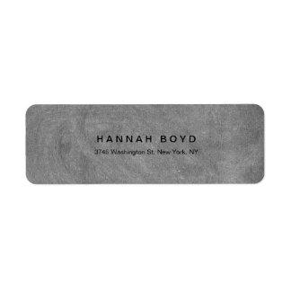 Professionnel moderne de tableau gris créatif de étiquettes d'adresse retour