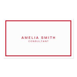 Professionnel moderne d'entreprise blanc et rouge carte de visite standard