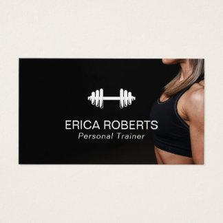Professionnel personnel d'entraîneur de fille de cartes de visite