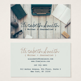 Professionnel vintage de machine à écrire de cool cartes de visite
