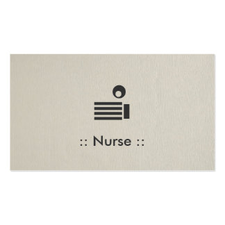 Professionnelle élégante simple d'infirmière carte de visite standard