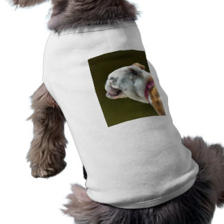 Profil anglais de bouledogue tee-shirt pour toutou