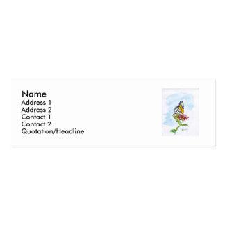 Profil/carte de visite de papillon de monarque carte de visite petit format