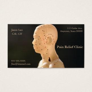 Profil d'acuponcture cartes de visite