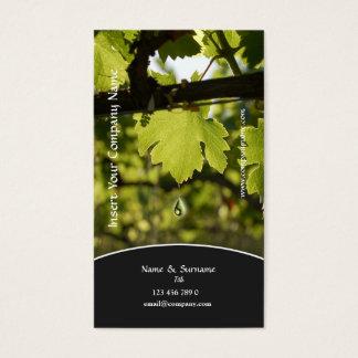 Profil d'affaires de raisin de vignoble cartes de visite