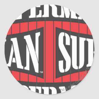 Profil de nom de Superman Sticker Rond
