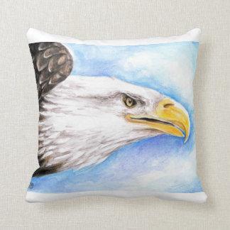 Profil d'Eagle chauve Coussin