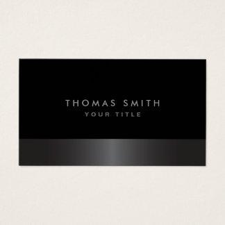 Profil gris-foncé et noir chic élégant moderne cartes de visite
