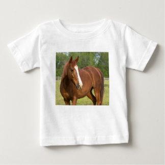 Profil latéral de Brown de cheval Arabe dans le T-shirt Pour Bébé