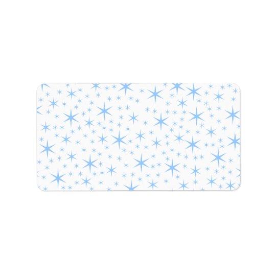 Profil sous convention astérisque bleu-clair étiquettes d'adresse