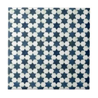 Profil sous convention astérisque marocain bleu carreau