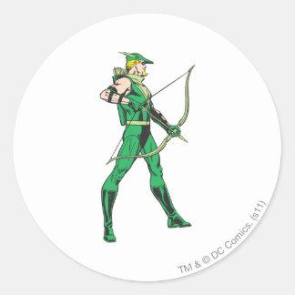 Profil vert de flèche sticker rond