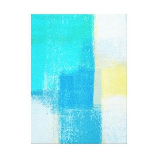"""""""Profondément"""" art abstrait de turquoise Toiles"""