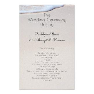 Programme abordable fait sur commande de mariage prospectus 14 cm x 21,6 cm