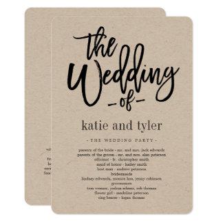 Programme balayé de cérémonie de mariage de charme
