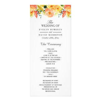 Programme chic floral de mariage de automne de cartes doubles customisables