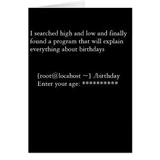 Programme d'anniversaire