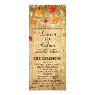 Programme de cérémonie de mariage campagnard pour
