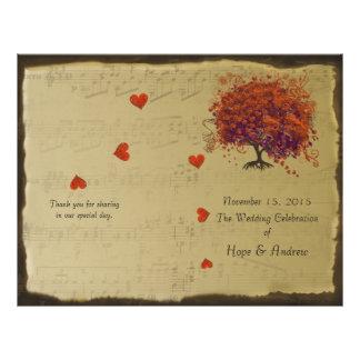 Programme de mariage d'arbre d'orange et de prospectus 21,6 cm x 24,94 cm