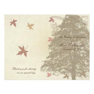 Programme de mariage de chêne de Brown Prospectus 21,6 Cm X 24,94 Cm
